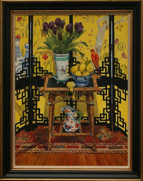 Still life chinese screen