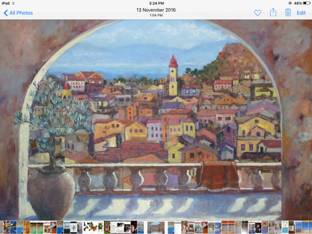 Painting of old Corfu town